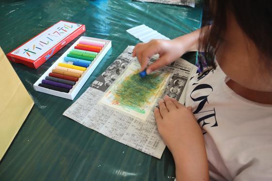 やと子ども美術教室 ~ 秋色で遊ぼう ~ _e0222340_14144081.jpg