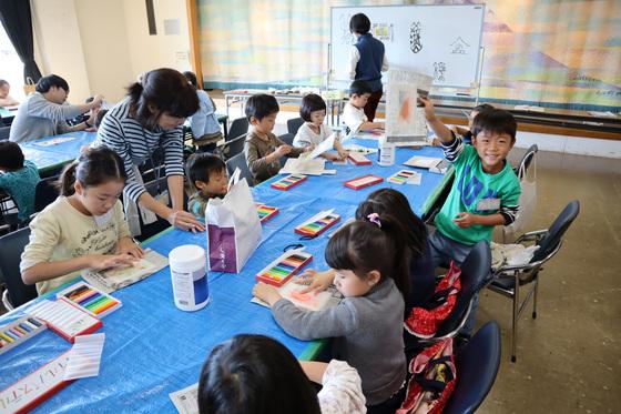 やと子ども美術教室 ~ 秋色で遊ぼう ~ _e0222340_14144590.jpg