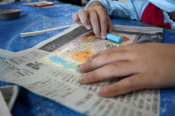 やと子ども美術教室 ~ 秋色で遊ぼう ~ _e0222340_15102970.jpg