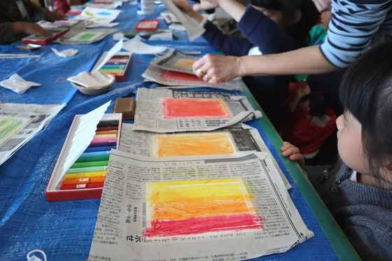 やと子ども美術教室 ~ 秋色で遊ぼう ~ _e0222340_15141726.jpg
