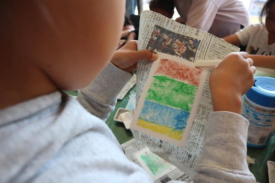 やと子ども美術教室 ~ 秋色で遊ぼう ~ _e0222340_15151368.jpg