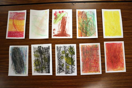 やと子ども美術教室 ~ 秋色で遊ぼう ~ _e0222340_15184342.jpg