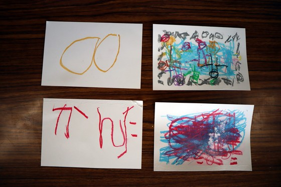 やと子ども美術教室 ~ 秋色で遊ぼう ~ _e0222340_1522379.jpg