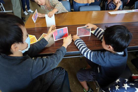 やと子ども美術教室 ~ 秋色で遊ぼう ~ _e0222340_1523106.jpg