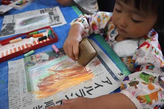 やと子ども美術教室 ~ 秋色で遊ぼう ~ _e0222340_1552155.jpg