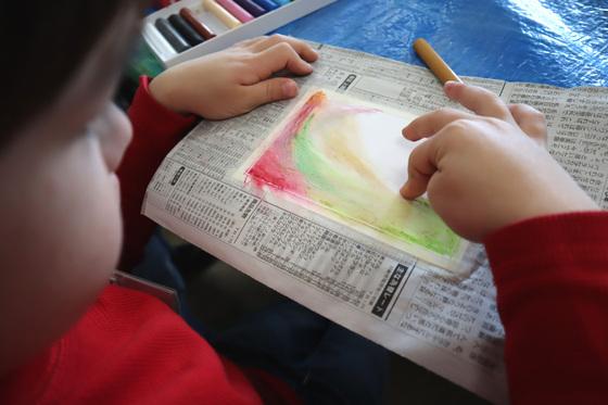 やと子ども美術教室 ~ 秋色で遊ぼう ~ _e0222340_155244.jpg