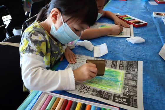 やと子ども美術教室 ~ 秋色で遊ぼう ~ _e0222340_156146.jpg