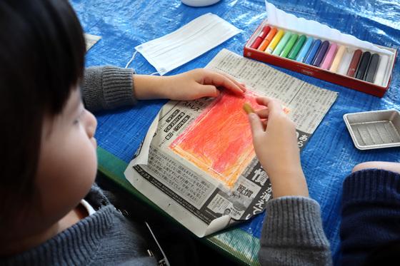 やと子ども美術教室 ~ 秋色で遊ぼう ~ _e0222340_158345.jpg