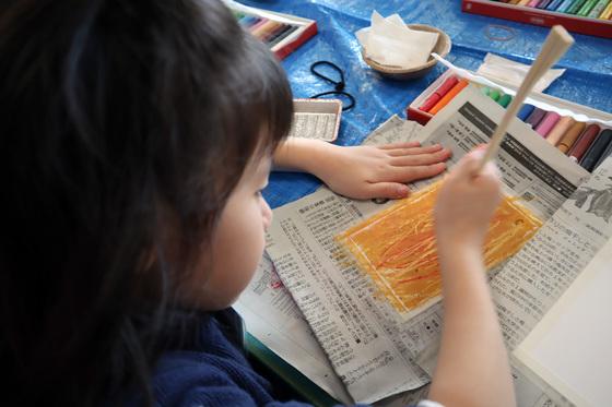 やと子ども美術教室 ~ 秋色で遊ぼう ~ _e0222340_1594772.jpg