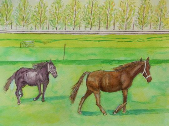 '19,11,10(日)馬の絵と一番の親友!_f0060461_09324118.jpg