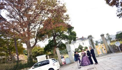 遅めの午後から鳥取市内の仁風閣での婚礼前撮り......._b0194185_18490105.jpg