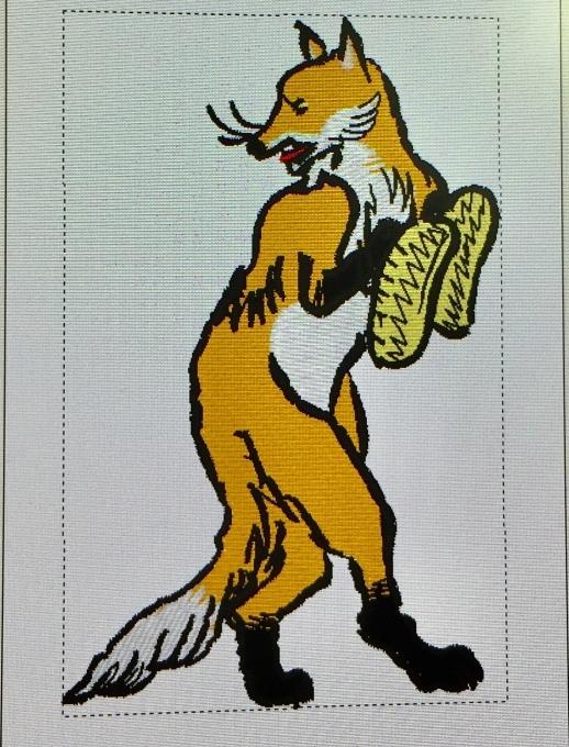 鳥獣戯画のキツネ刺繍(^^)_e0385587_03260284.jpeg