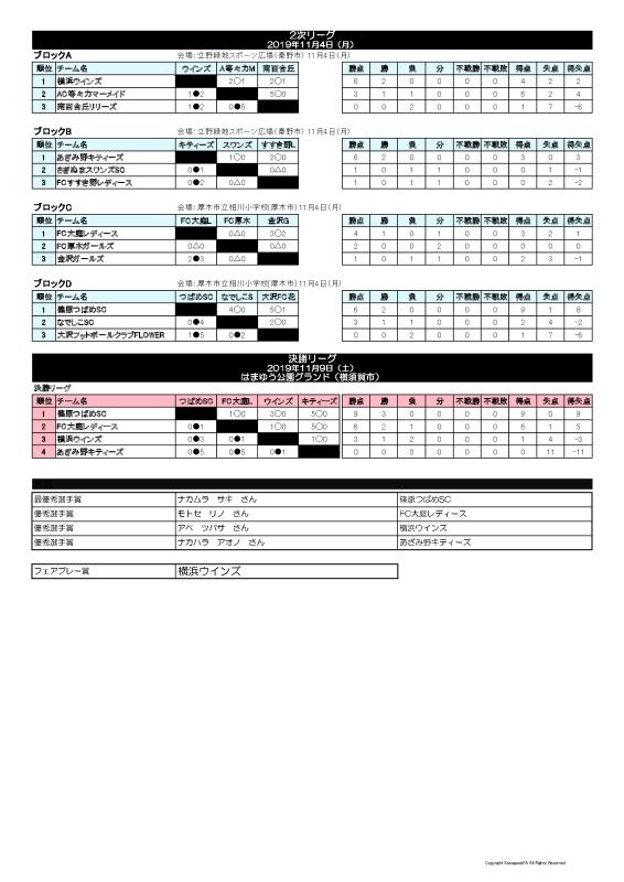 神奈川県少女サッカー選手権大会 第3位_f0375011_22332650.jpg