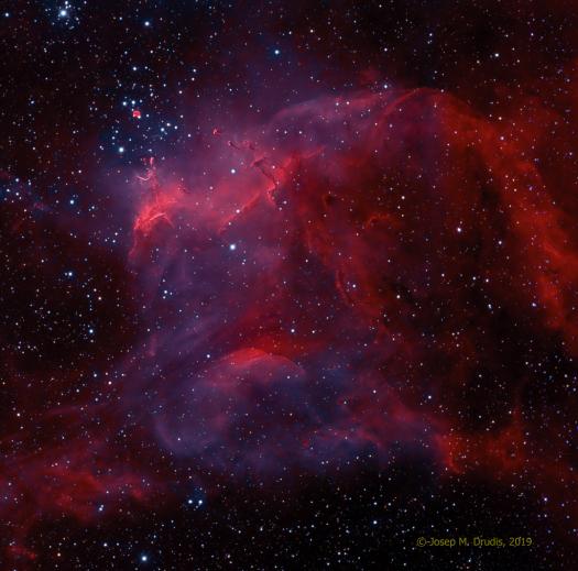 南天のりゅうこつ座の散開星団NGC3572_d0063814_11032356.jpg