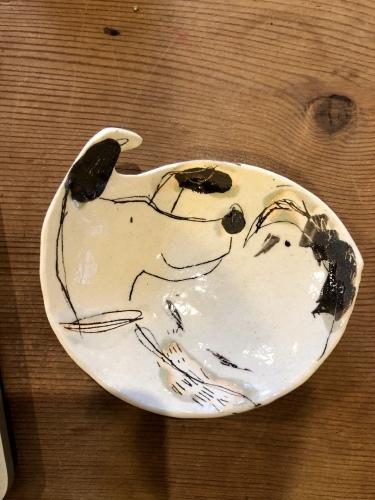 なほさんの可愛い犬小皿到着〜_a0197730_14324049.jpeg