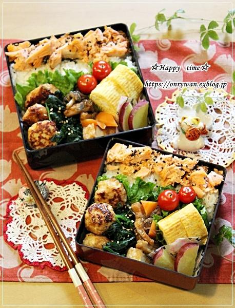 塩つくね弁当とワンわんわんワン♪_f0348032_16493093.jpg