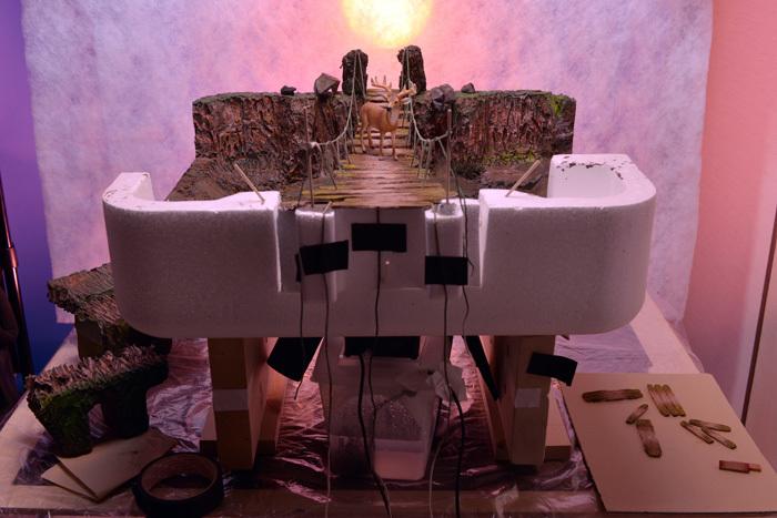 吊り橋を渡る鹿〜ネイリーマン諸島_b0175635_11120798.jpg