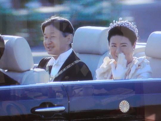 '19,11,11(月)天皇即位の儀式と祝賀パレード!_f0060461_10070865.jpg