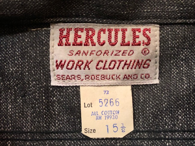 "11月13日(水)マグネッツ大阪店ヴィンテージ入荷!!#5 Work編!  NOS ""HERCULES\"" BlackChambray & Lee, Levi\'s, Wrangler!!_c0078587_153933.jpg"