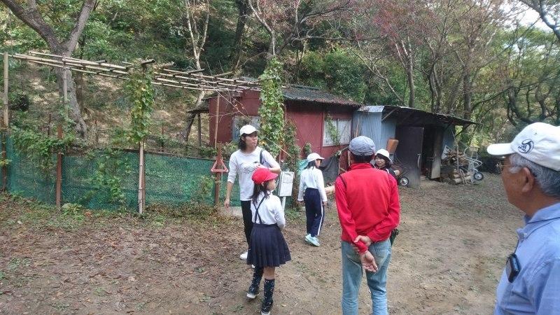 多奈川小学校校外学習と伐採木の製材_c0239329_08090235.jpg