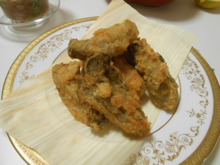 故郷の柿とカキフライ定食。_a0095931_20074746.jpg