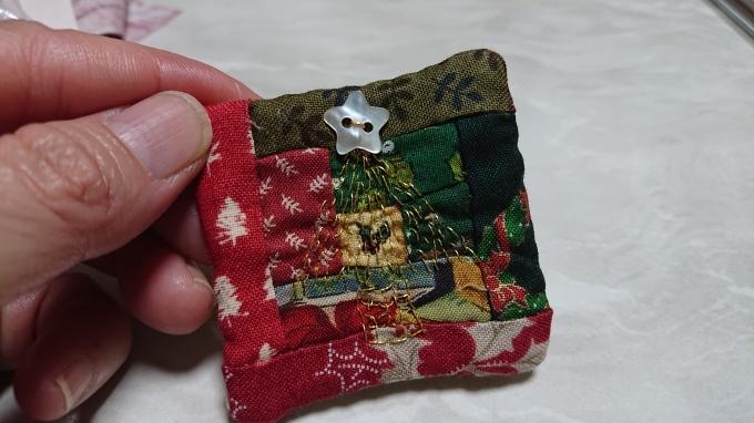 クリスマスのブローチ♪_f0374160_21473241.jpg