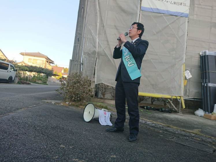 選挙戦3日目…湯津上・宇田川・奥沢・羽田_b0063162_23513578.jpg