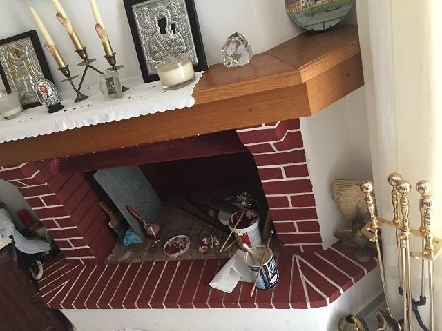 暖炉の準備にいそしむX君パパさん♪_a0123372_23352282.jpg