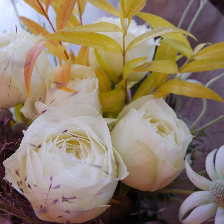 オークリーフ(バラブルゴーニュの秋の花束)_f0049672_16270380.jpg
