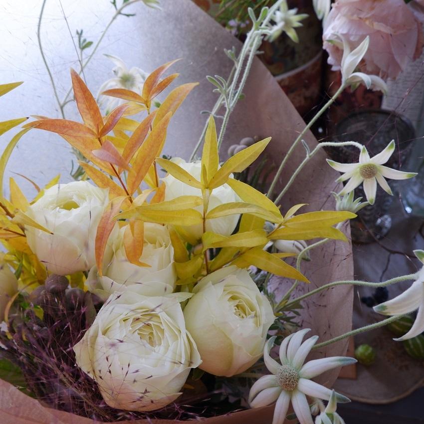オークリーフ(バラブルゴーニュの秋の花束)_f0049672_16270607.jpg