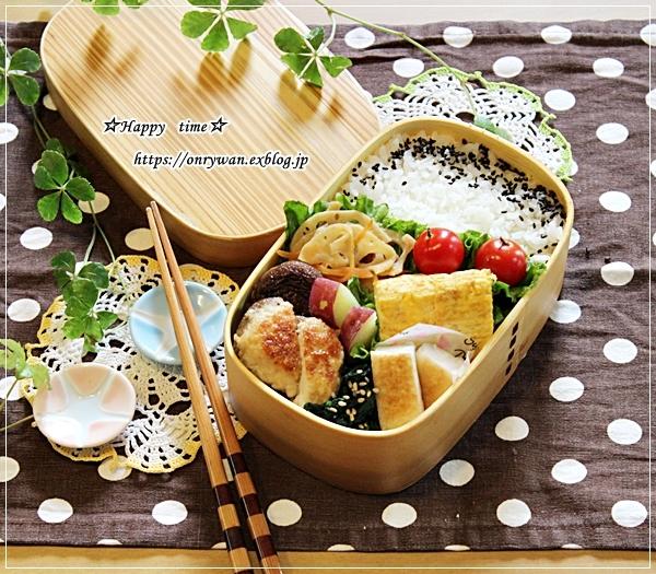 椎茸つくね弁当とスィートポテト♪_f0348032_17122277.jpg