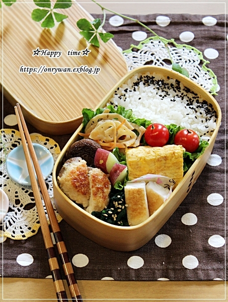 椎茸つくね弁当とスィートポテト♪_f0348032_17122965.jpg