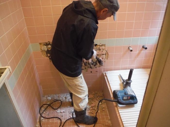 まとめてリフォーム ~ 浴室解体工事。_d0165368_05064576.jpg