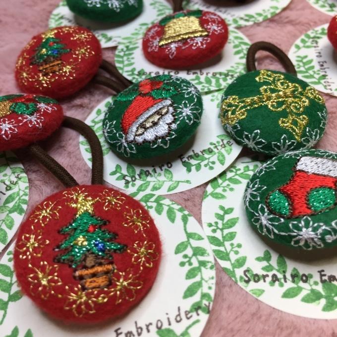 クリスマスの刺繍で(^^)_e0385587_18521495.jpeg