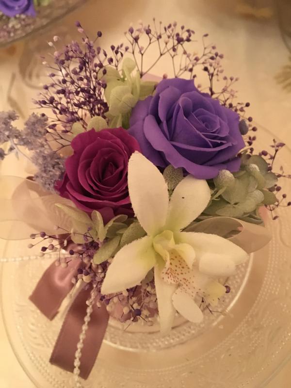 御婚礼 百合のブーケとコサージュ💐_c0195496_22023735.jpg