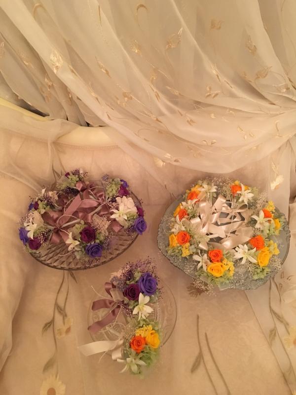 御婚礼 百合のブーケとコサージュ💐_c0195496_22053102.jpg