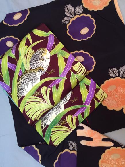 11/16開催!中目黒「おさんぽきもの」お買得均一SALE!南天・菊・扇着物♪販売商品24_c0321302_23274812.jpg