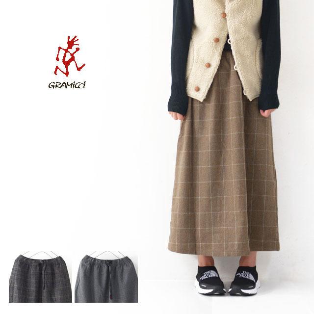 GRAMICCI [グラミチ] WOOL BLEND LONG FLARE SKIRT [GLSK-19F014] ・ウールスカート・チェックスカート・LADY\'S _f0051306_18234212.jpg