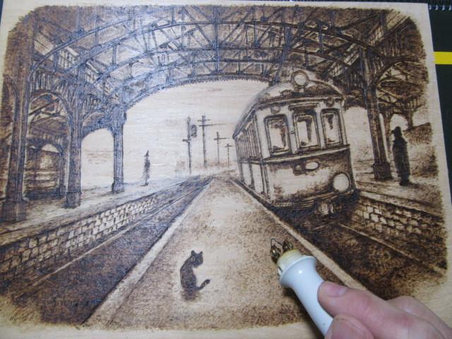 新作 トレインアート「黒猫とデナ」_f0227828_15101153.jpg