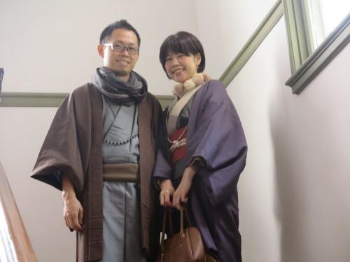 深谷市の和服姿の小水ご夫妻が重文本館をご見学_c0075701_23575030.jpg