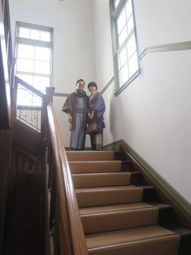 深谷市の和服姿の小水ご夫妻が重文本館をご見学_c0075701_23575662.jpg