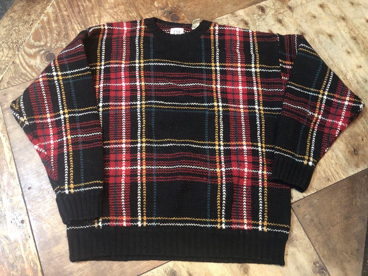11月16日(土)入荷!90s all wool  GAPチェックセーター!_c0144020_13542507.jpg