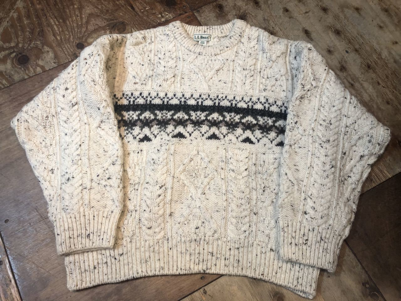 11月16日(土)入荷!MADE IN IRELAND L.L Bean all wool sweater!!_c0144020_13573841.jpg