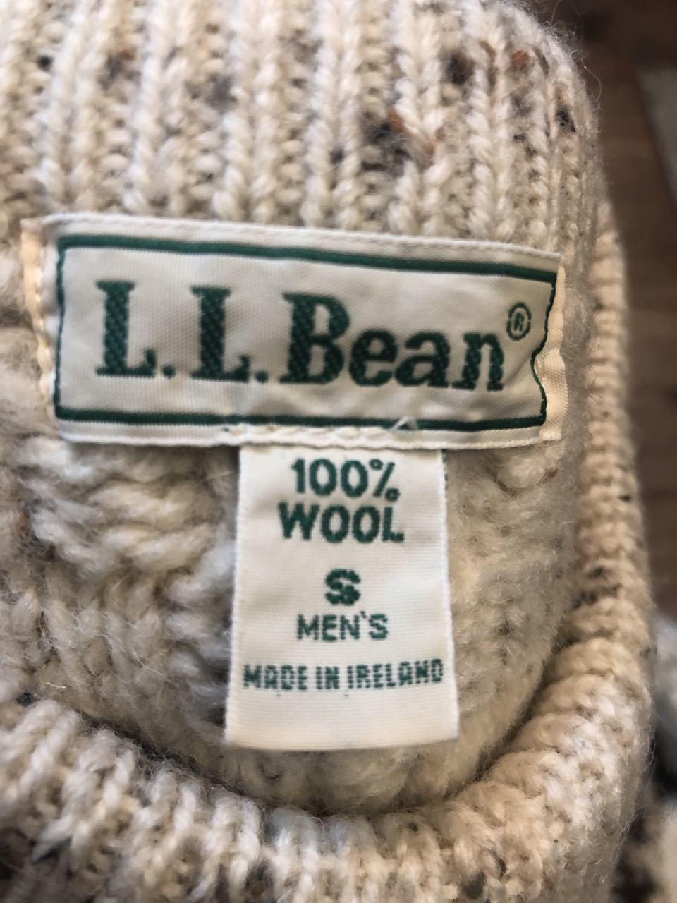 11月16日(土)入荷!MADE IN IRELAND L.L Bean all wool sweater!!_c0144020_13574445.jpg