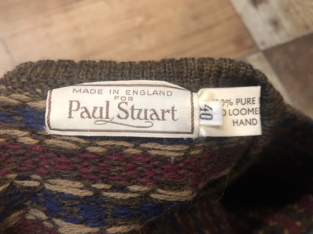 11月16日(土)入荷!80s〜MADE IN ENGLAND PAUL STUART ポールスチュアート SWEATER !_c0144020_14011982.jpg