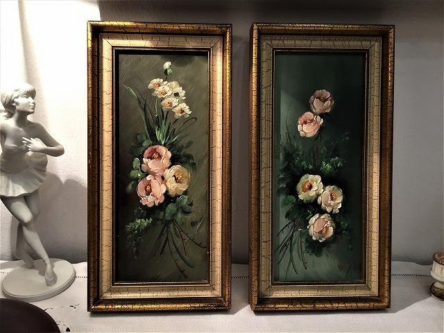 オリジナル油絵「バラ」2枚セット_f0112550_06343127.jpg