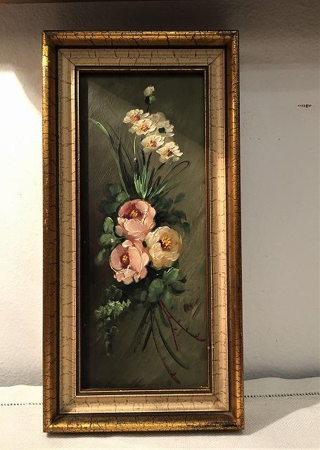 オリジナル油絵「バラ」2枚セット_f0112550_06343128.jpg