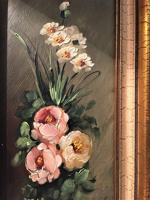 オリジナル油絵「バラ」2枚セット_f0112550_06343223.jpg