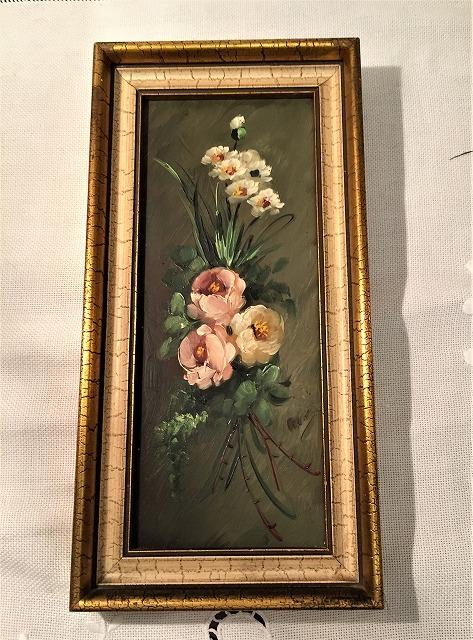 オリジナル油絵「バラ」2枚セット_f0112550_06343231.jpg