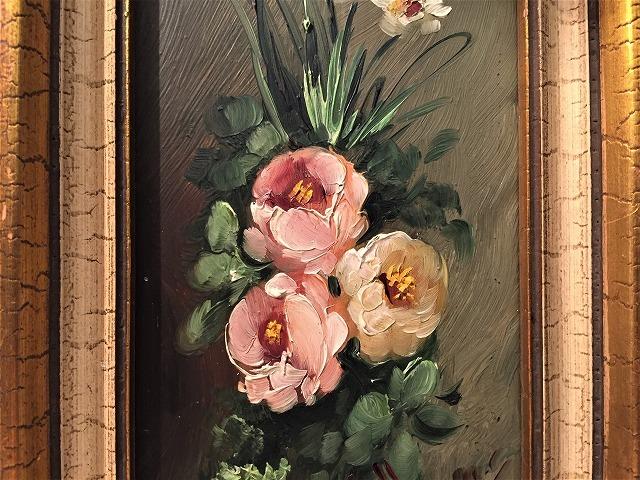 オリジナル油絵「バラ」2枚セット_f0112550_06343241.jpg